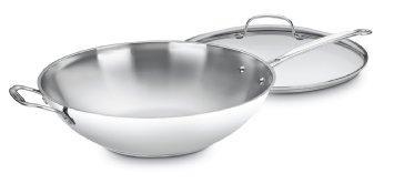 Cuisinart  Pots & Pans STIRFRY PAN W/LID SS 14