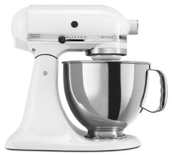 Kitchenaid  Mixers  5qt Artisan Mixer White $349.99