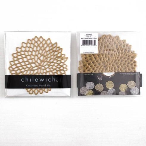 Chilewich  Dahlia  dahlia coasters s/6 brass $18.00