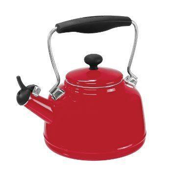 $60.00 2qt Vint Tea Kett W/Eos Gl-Red