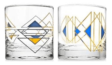 Breed & Co. Exclusives  Glassware  Godinger Helix Triangle DOF Glass $14.00