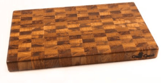 Breed & Co. Exclusives  Dinnerware Gum Creek Medium Endgrain Mixed Oak Cutting Board $200.00