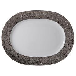 Bernardaud  Ecume Platinum  Ecume Platinum Sm Oval Platter $377.00