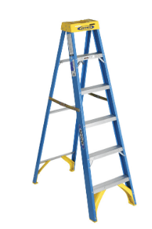 Werner 6 ft. H x 22 in. W Fiberglass Step Ladder collection with 1 products