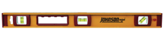 Johnson 24 in. Aluminum I-Beam Level 3 vial collection with 1 products
