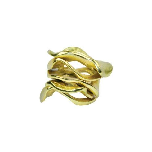 Kim Seybert  Napkin Rings  FLUX GOLD NAPKIN RING $19.95