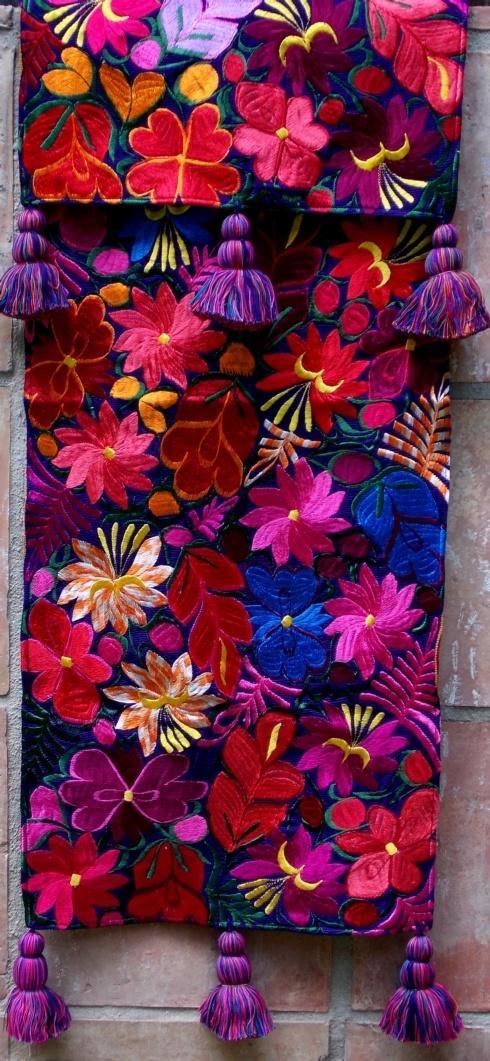 Fresco Fabrics   PURPLE FRINGE RUNNER $190.00