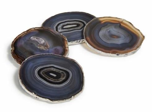 $140.00 Lumino Coasters - Smoke/Silver