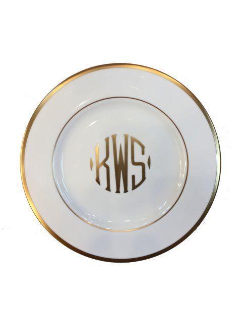 Pickard Signature  Pickard Signature Gold- With Monogram SIG SALAD UW GOLD MONO HH10 GL $59.00