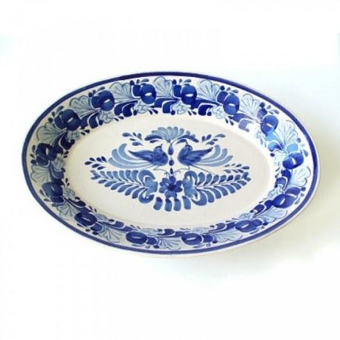 Gorky Pottery  Platters LARGE OVAL PLATTER W/LOVE BIRDS $140.00