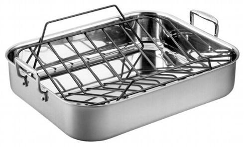 Le Creuset  Stainless Lg Roasting Pan Set $350.00