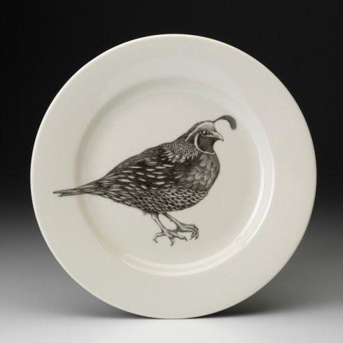 Laura Zindel Design   DINNER PLATE QUAIL #2 $50.00