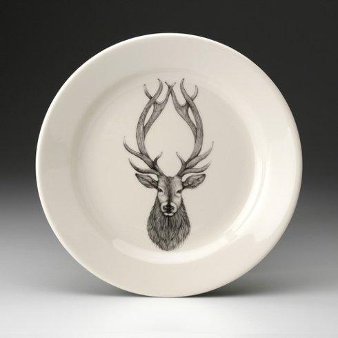 Laura Zindel Design   DINNER PLATE RED STAG $50.00