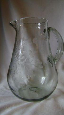 Rose Ann Hall Designs  Condessa Clear PEAR PITCHER - CLEAR $55.00