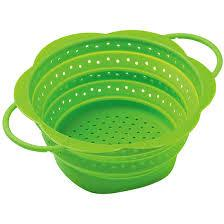 $14.99 COLLAPSIBLE COLANDER, MINI GREEN