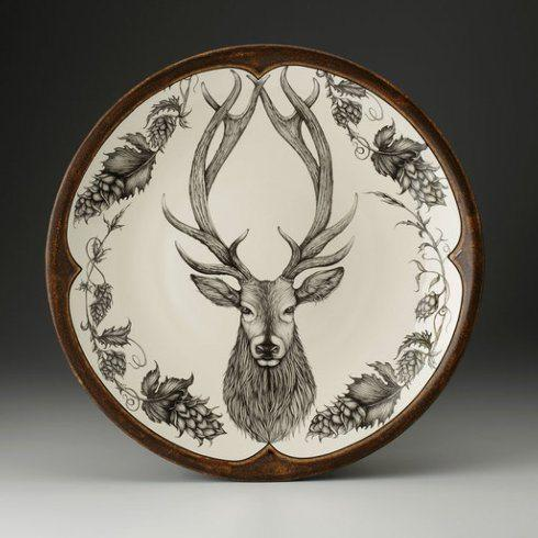 $650.00 LARGE ROUND PLATTER RED STAG
