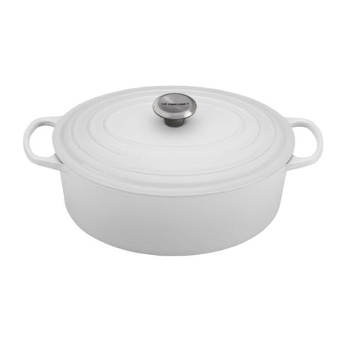 Le Creuset  White 6.75 QT SIG OVAL FRENCH OVEN WHITE $370.00
