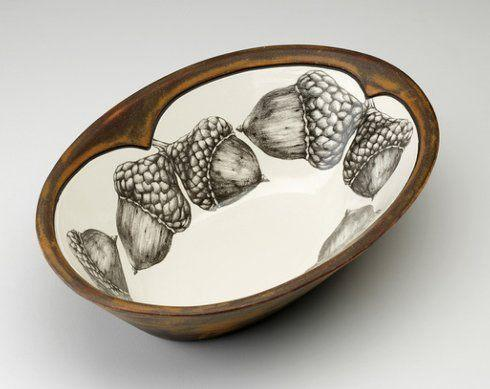 $165.00 LARGE SERVING DISH ACORNS