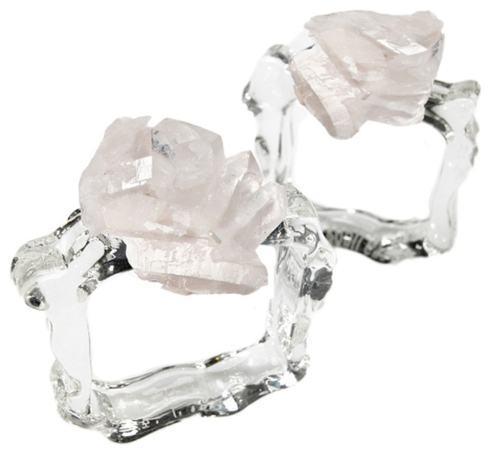 $110.00 Ardana Napkin Rings Crystal S/2