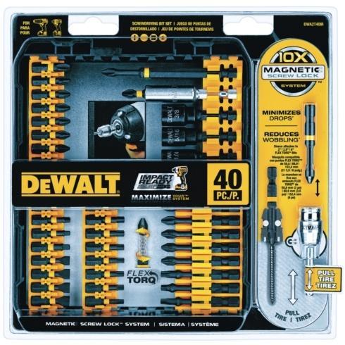 Ace  Dewalt 40pc. SCREWDRIVING BIT SET $32.99