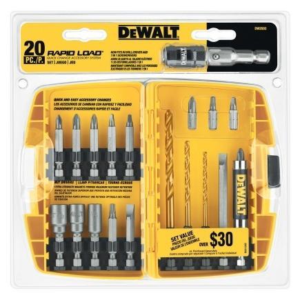 Ace  Dewalt 20pc Rapid Load Driver Set $18.99