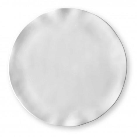 """$11.00 Ruffle 10.5"""" Round Dinner Plate"""