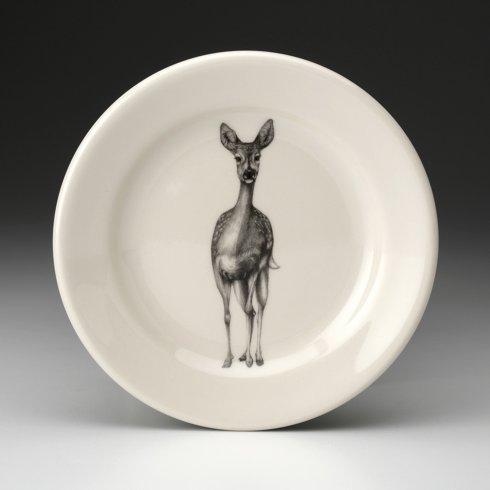 Laura Zindel Design   SALAD PLATE FALLOW DOE $35.00