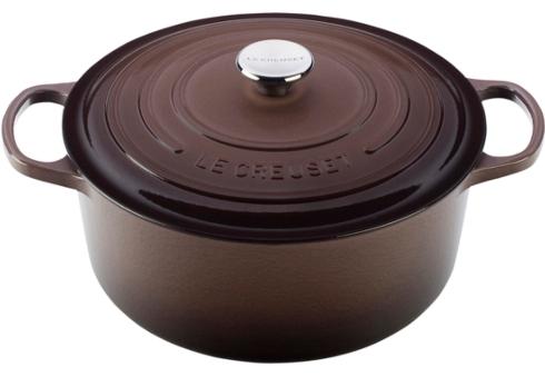 $350.00 5.5 Qt. Round Cast Iron Dutch Oven - Truffle
