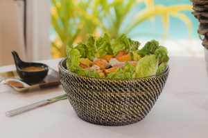 Calaisio   Small Salad Bowl W/Woven Holder $50.00