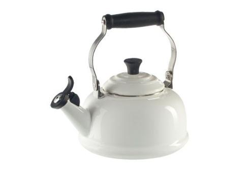 $100.00 1.7 Qt. Classic Whistling Teakettle - White