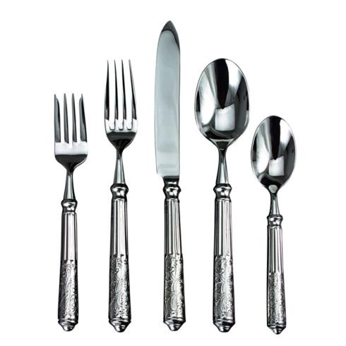 $85.00 Amalfi 5 Pc. Place Setting Stainless Steel Flatware