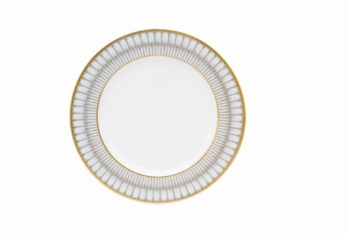 Deshoulieres  Arcades grey & gold Dinner Plate $95.00