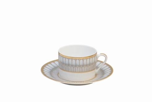 Deshoulieres  Arcades grey & gold Tea Cup $75.00