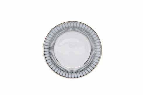 Deshoulieres  Arcades grey & platinum Dessert Plate $85.00