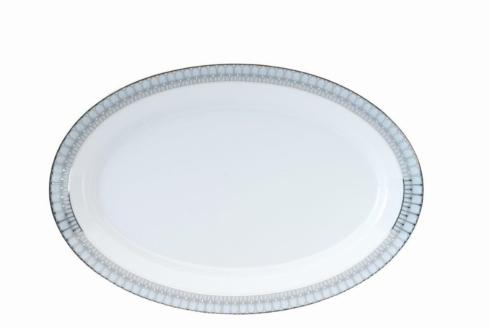 Deshoulieres  Arcades grey & platinum Oval Platter $415.00