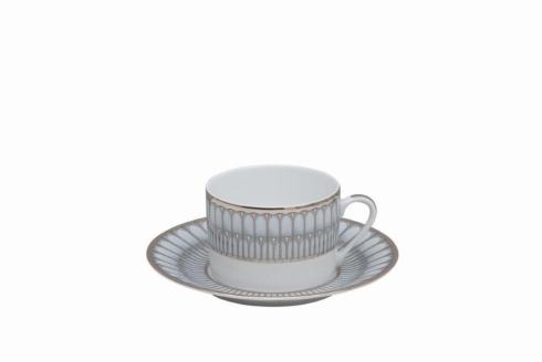 Deshoulieres  Arcades grey & platinum Tea Cup $75.00