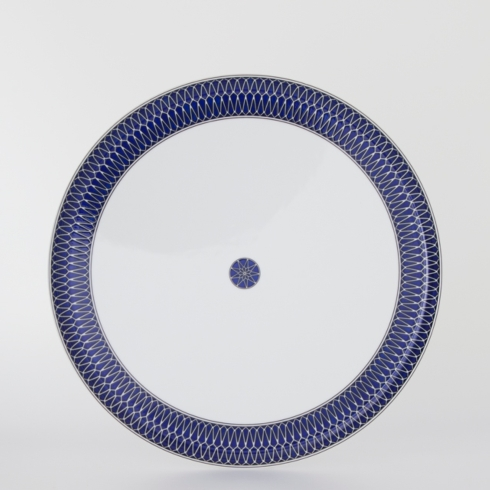 Royal Limoges  Recamier - Blue Star Deep round platter $235.00
