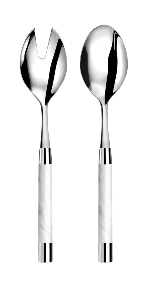 Capdeco  Conty white Salad serving set $115.00