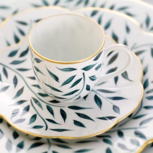 Royal Limoges  Nymphea - Olivier Green Coffee cup $85.00