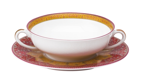 Deshoulieres  Dhara red Cream Soup cup