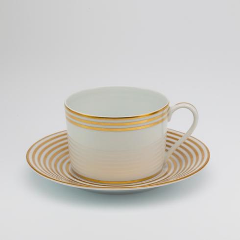 Royal Limoges  Recamier - Lattitudes Gold Tea saucer $65.00