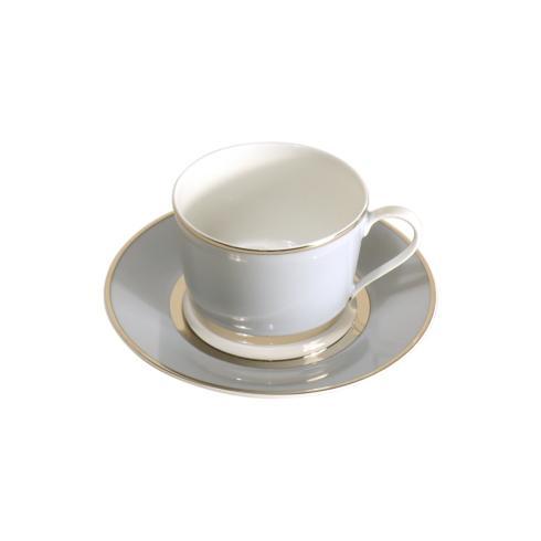 Royal Limoges  Recamier - MAK grey/platinum Tea saucer $40.00