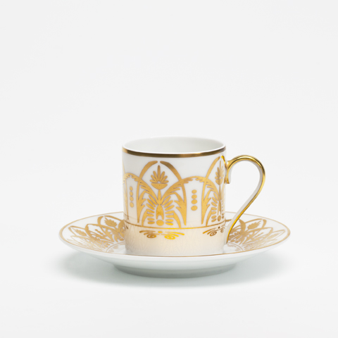 Royal Limoges  Recamier - Oasis White Coffee saucer $45.00