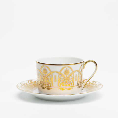 Royal Limoges  Recamier - Oasis White Tea saucer $60.00