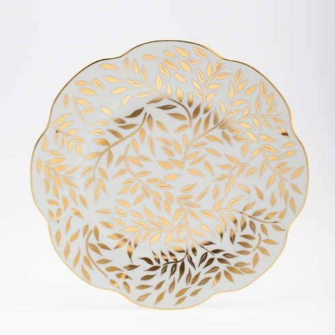 Royal Limoges  Nymphea - Olivier Gold Dessert plate $105.00