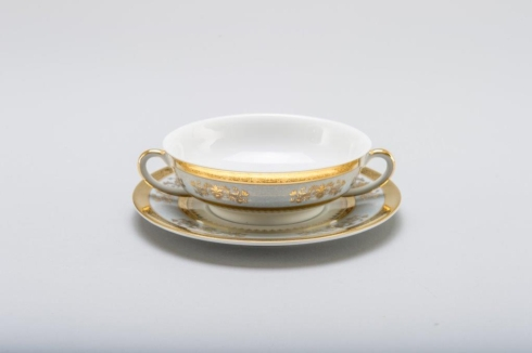 Deshoulieres  Orsay powder blue Cream Soup Saucer $110.00