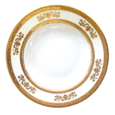 Deshoulieres  Orsay white Rim Soup Plate $120.00