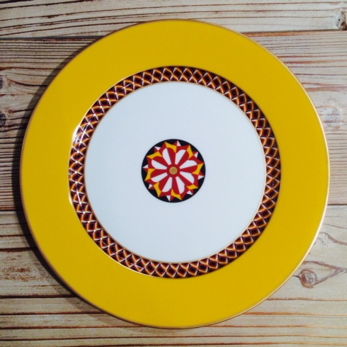 $115.00 Yellow Dinner Plate