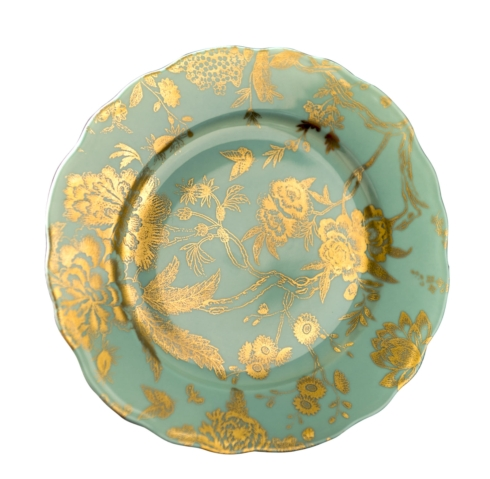 $165.00 Turquoise & Gold accent plate