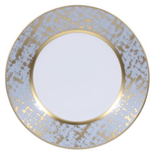 Royal Limoges  Recamier - TWEED GREY&GOLD Dessert Plate $95.00